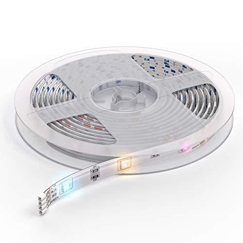 Preisvergleich Produktbild B.K.Licht I Smart LED Strip 5 Meter I WiFi LED Band I LED Streifen I App I Sprachsteuerung Alexa und Google Assistant I Inkl. Fernbedienung I Silikonummantelt I iOS & Android I Selbstklebend I 2, 4 GHz