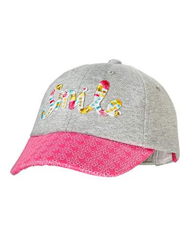 maximo Baby-Mädchen Cap Kappe, Mehrfarbig (Graumeliert/Sun Pink 525), (Herstellergröße: 47/49)
