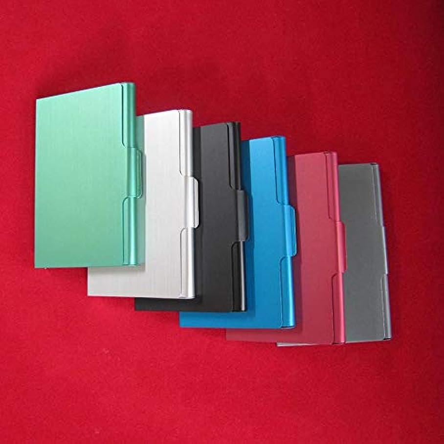 舗装する背景ぼかしファッションステンレス鋼クレジットカードホルダーカバースリムアンチプロテクトトラベルIDカードホルダー女性男性財布金属ケースポータブル