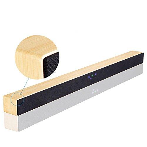 Z&YQEcho Wall Soundbar home theater Bluetooth 4.0 Draadloze Bluetooth Audio stereoluidspreker, houtnerf