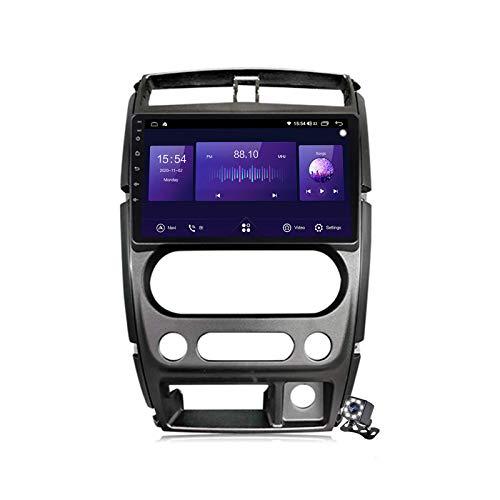 Autoradio Sat Android 10.0, radio per Suzuki Jimny 3 2005-2019 Navigazione GPS 9 pollici Unità principale MP5 Lettore multimediale Ricevitore video con 4G / 5G WIFI DSP RDS Carplay