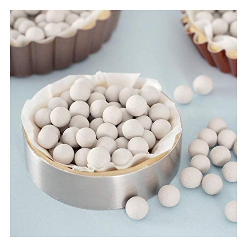 Nother Pie Weights,Ceramic Pie Weights for Baking, Reusable 10mm Baking Beans Pie Crust Weights Natural Clay Blind Baking Beads Pie Beads With Cotton Bag (1.32lb600g), 1.54b700g