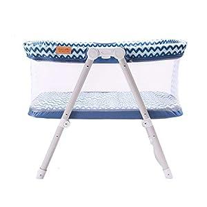 Venture Hush Lite Baby Crib, Compact Travel Cot 0-6 Months Blue