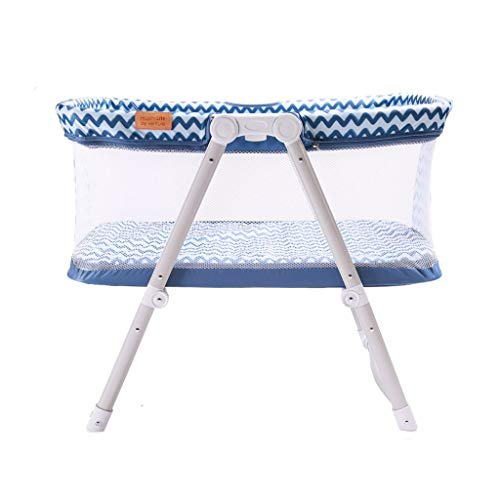 Venture Hush Lite Baby Crib, Compact Travel Cot 0-6 Months Blue