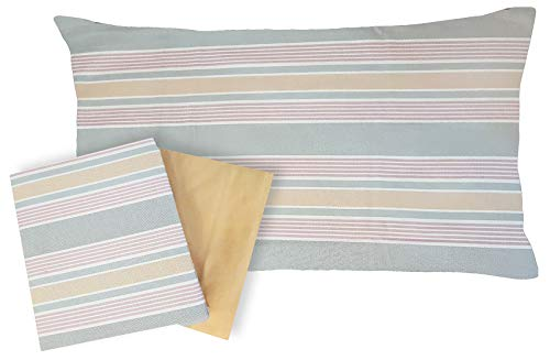 Flanella 100% di puro cotone Completo letto Una Piazza e Mezza 1,5 francese lenzuola sopra + lenzuolo sotto con angoli + 1 federa ZUCCHI BASICS (Keen col 1)