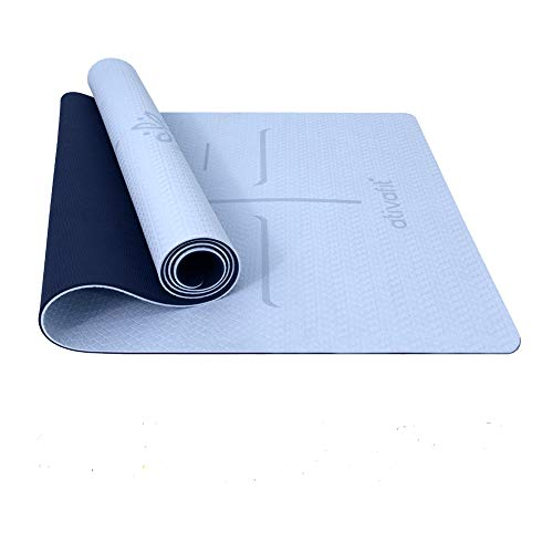 best yoga mat for 2021 ATIVAFIT Non Slip TPE Yoga Mat Exercise & Workout Mat with Carrying Strap Perfect for Yoga Exercise, Extra Large - 72x23.2x0.24 Inch
