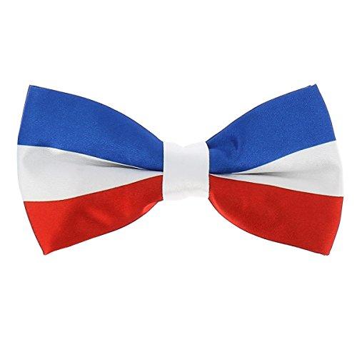 Noeud Papillon Drapeau Tricolore Bleu Blanc Rouge, Bleu, Blanc et Rouge, Taille unique
