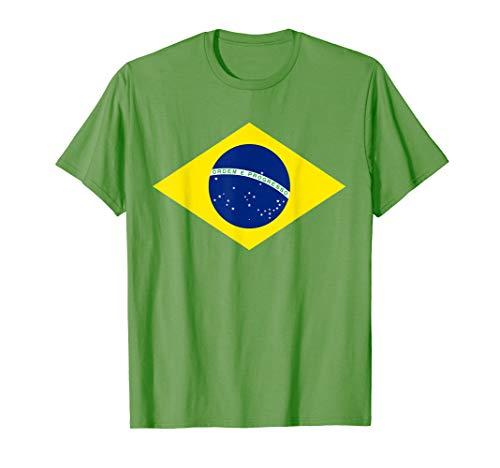 Brasilien Flagge Fußball Trikot Brasilianisch Brasil Flaggen T-Shirt