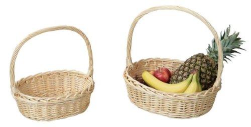 Kesper Bügelkorb / Präsentkorb, Weidekorb, Geschenkkorb, Korb, aus Weide, Maße: 360 x 300 x 110 mm