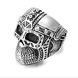 Acero inoxidable Vintage calavera hombres Punk Rock anillos joyería regalo...