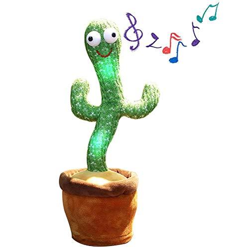 Sprechender Kaktus Plüschtiere Tanzender Kaktus Plüsch Puppe Singen und Tanzen Elektronischer Plüschspielzeug für Kinder aufnehmen Lernen zu sprechen Puppen 120 Lieder Beleuchtung Aufnahme