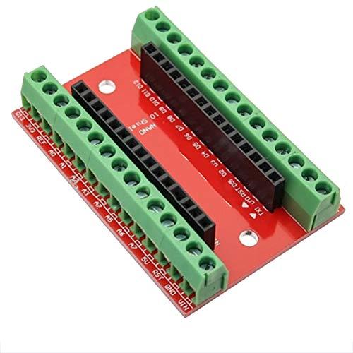 fengzong NANO IO Shield Expansion Board Nano Controller Terminal Adapter Screw IO Shield Electronic Circuit For Arduino(Multicolor)