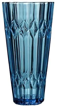 ZXYDD Florero europeo de cristal transparente decorativo azul florero contenedor para decoración del hogar, oficina, boda, fiesta, regalo (color: D-5,3 x 9,8 cm) (color: D-5,3 x 9,8 cm)