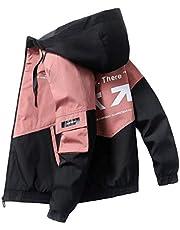 (BaLuoTe)ジャンパー メンズ ブルゾン コート アウター メンズ ショート丈 韓国風 ファスナー カコイイ 通学 通勤 コート