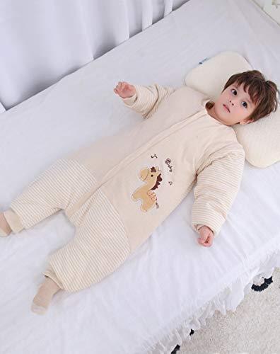 Unisex-inbakerdekens voor baby's, dikke babyslaapzak met gespleten pijpen, katoenen anti-kick-quilt-1911 Pony_XXL code 95, dikke warme slaapzak voor pasgeboren baby's