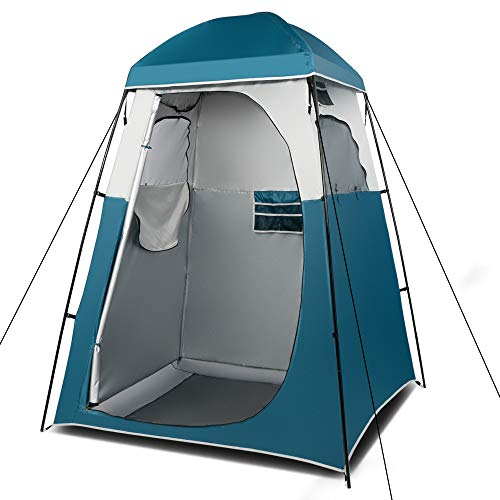 VINGLI 6.7FT Shower Tent, Changing Room Tent for Portable Toilet, with Mesh Floor and Carrying Bag, Lightweight & Sturdy, Perfecr for Camping, Boat, Dressing Outdoor or Indoor