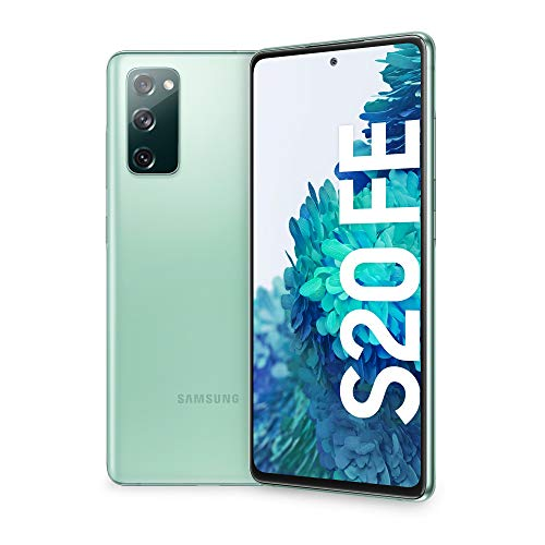 Samsung Smartphone Galaxy S20 FE, Display 6.5' Super AMOLED, 3 Fotocamere Posteriori, 128 GB Espandibili, RAM 6GB, Batteria 4.500mAh, Hybrid SIM, (2020), Verde (Cloud Mint)