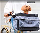 ALL FOR PAWS Delux 2 in 1 Bicycle Basket Carrier Bag with Reflective Stripe for Dogs,Cats,Rabbit, upto 10Lbs