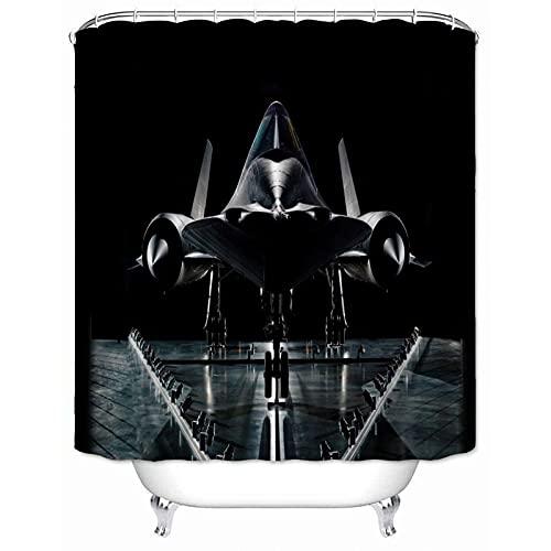 Duschvorhang Benutzerdefinierte Flugzeug Duschvorhang, wasserdicht, Polyester Stoff, Badezimmer mit Haken, Home Decor