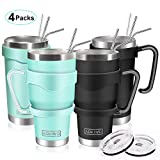 20oz and 30oz Tumbler, AOKIWO [4 Packs] Stainless Steel Insulated Tumblers...
