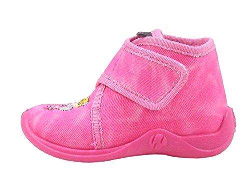 Rohde 2104 Schuhe Kinder Hausschuhe Jungen Mädchen, Größe:26 EU, Farbe:Pink