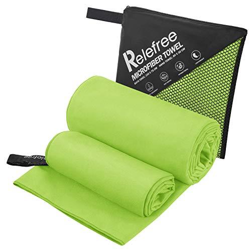 Set di Asciugamani (Asciugamano da Bagno e Asciugamano), Telo Mare, Asciugamano Microfibra per Piscina, Palestra, Trekking, Campeggio, Asciugatura Rap