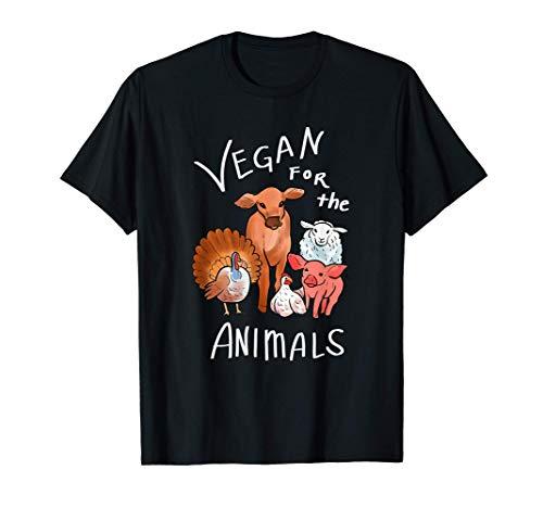 Vegano para los animales vegetariana y activista Camiseta