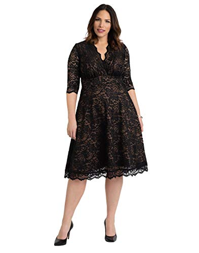 Kiyonna Women's Plus Size Special Occasion Mademoiselle Lace Cocktail Dress