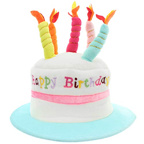 MIK Funshopping Lustiger Geburtstags Hut Happy Birthday - Mit Kerzen.