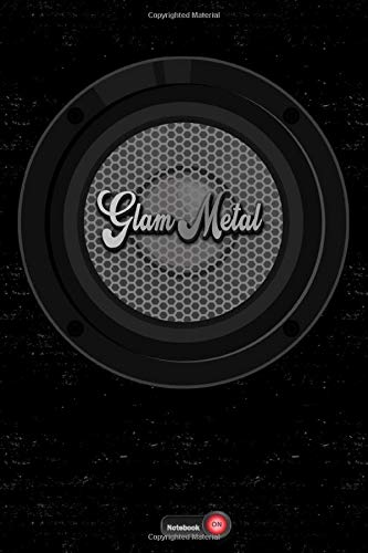 Glam Metal Notebook: Boom Box Speaker Glam Metal Music Journal 6 x 9 inch 120 lined pages gift