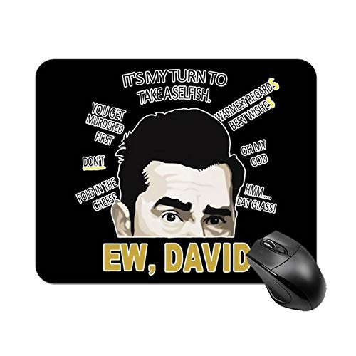 Ew David Rose Alexis Mouse Pad Non-Skid Natural Rubber Rectangle Mouse Pads Home Office Computer Gaming Mousepad Mat Desk Mat