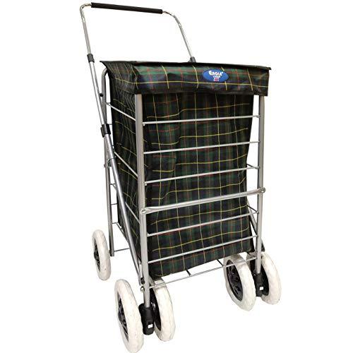 Einkaufstrolley mit 6 Rädern, robust, für Reisen, Markt, Spaziergang, Einkaufstrolley, schöne Farbe 6 Wheel 60 L grün