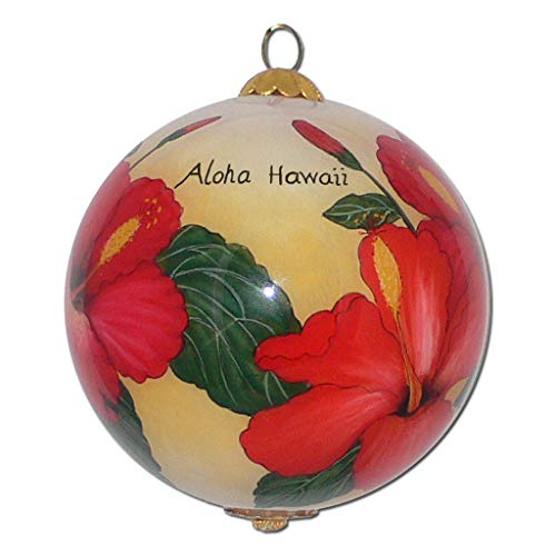 Collectible Hawaiian Christmas Ornament - Radiant Hibiscus RH/H