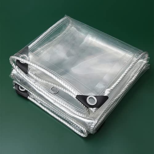 MDCG Chiaro Teloni 650g Trasparente Panno Antipioggia Robusto Impermeabile A Prova di Vento Poncho (Colore : Chiaro, Taglia : 1.9x1.9m)