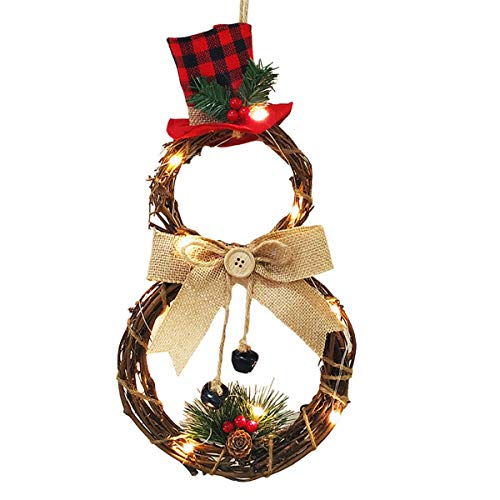 Meng Art Deco LED de Navidad Que cuelga Puerta de la Pared del Partido de Navidad Decoraciones caseras, la Guirnalda de la Guirnalda Decoración