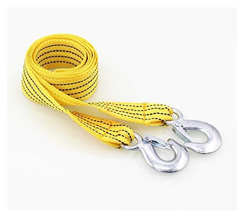 Durable E0331 Cuerda de remolque 3m 3 TRACCIÓN CINTURÓN CARRO DE CARRO DE CARRO DE TRABAJE A CARA DE CAJO PARA CORREA DE CORREA DE TEMPORTE Cinturón de correa de metal fuerte Remolque de cable de remo