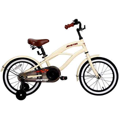 JOYSTAR 16' Kids Cruiser Bike with Training Wheels for Ages 2-6 Years Old Girls...