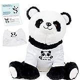 InFLOATables Panda Plush Stuffed Animal - Cute Plush Panda - Stuffed Panda with You are Too Paw-Some Removable Shirt - 11 Inches Stuffed Panda Bear - Cuddly Birthday Gift