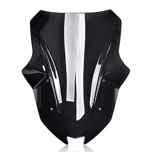 WERTYU Motorrad Double Bubble Windschutzscheibe Windschutz Deflectors Fit for Kawasaki Ninja 1000 Z1000 Z 1000 SX Z1000SX 2017 2018 2019 2020 Windschutzscheiben-Spoiler (Color : Smoke)
