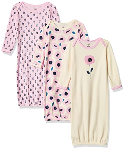 Touched by Nature Baby Organic Cotton Gowns, Blossoms, 0-6 Months