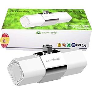 BRUMICOLD SPAIN filtro ducha con ultrafiltración por membrana PE, ablanda cal, elimina cloro, flúor y metales pesados…