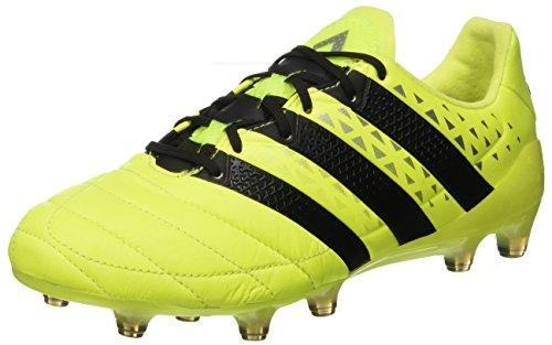 adidas Herren Ace 16.1 Fg Leather Fußballschuhe, Gelb (Syello/Cblack/Silvmt), 43 1/3 EU