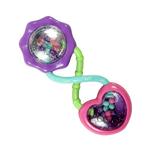 Bright Starts Rattle & Shake Barbell Toy, Ages 3 Months and Up