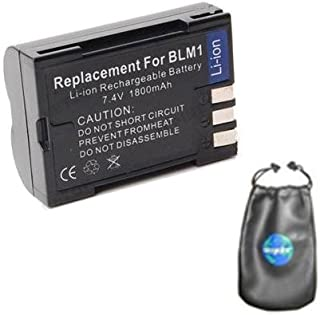 Digital Replacement Camera and Camcorder Battery for Olympus BLM-1, CAMEDIA C-5060 - Includes Lens Pouch