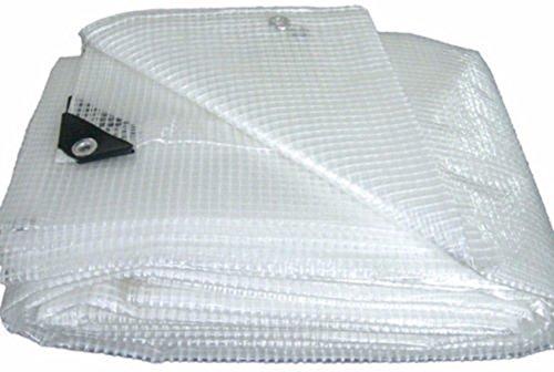 Telo telone occhiellato PVC retinato bianco copertura esterno protezione esterno mt 4x3