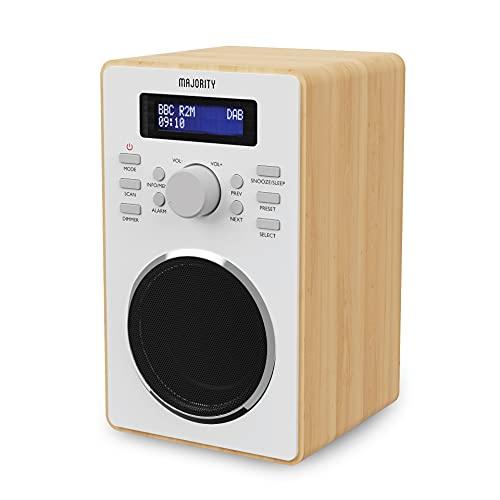 Majority Barton II DAB Radio | FM & DAB DAB+ | Dual Alarm with Snooze Function | 20 Preset Stations
