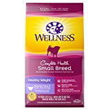 Wellness Natural Pet Food Complete Health Natural Dry Small Breed Healthy Weight Dog Food, Turkey & Rice, 4-Pound Bag