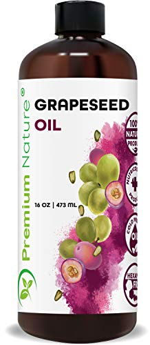 Grapeseed Oil Pure Carrier Oil - Cold Pressed Grape Seed Extract Carrier Oil For Essential Oils Mixing Natural Body Oil For Dry Skin Moisturizer Massage Lotion For Aromatherapy Nails And Hair Growth 16 Oz