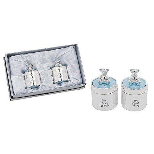 Shudehill Giftware Emaille Ersten Zahn und Curl Set Blau