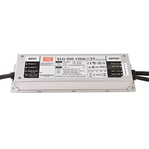 Fuente de alimentación regulable 192 W Mean Well ELG-200-12DA Dali IEC 62386 12 V IP76